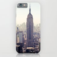 iPhone & iPod Case featuring Manhattan - Empire State Building Pano | colored by Thomas Richter
