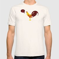 the rooster still bites Mens Fitted Tee Natural SMALL