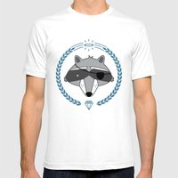 Mr. Raccoon Mens Fitted Tee White SMALL