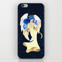 Blue Hair Angel iPhone & iPod Skin