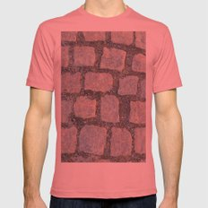 Cobble Stone City Mens Fitted Tee Pomegranate SMALL