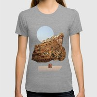 rock ten Womens Fitted Tee Tri-Grey SMALL
