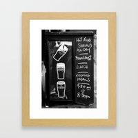 Liquid Lunch Framed Art Print