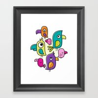Le Tweet Framed Art Print