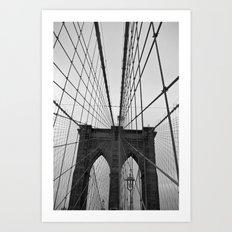 Meet me on Brooklyn Bridge Art Print
