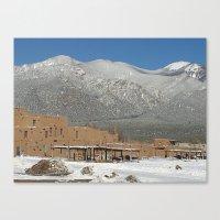 Taos Pueblo, NM Canvas Print