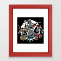Ninja Penguins Framed Art Print