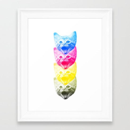CMYKat Framed Art Print