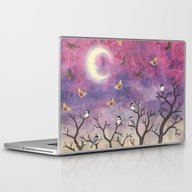 Laptop & iPad Skin featuring Chickadees And Io Moths … by Sarah Knight