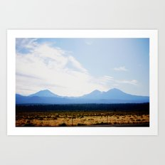 Out West, Three Sisters Art Print