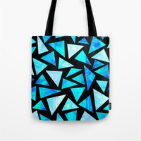 Blue Triangle Mountains Tote Bag