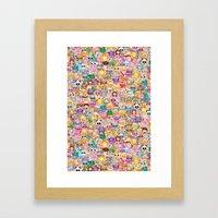 Emoji / Emoticons Framed Art Print