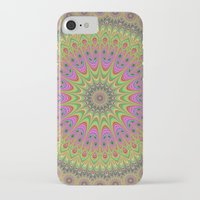 mandala iPhone & iPod Cases featuring Floral ornament mandala  by David Zydd