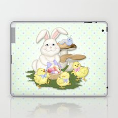 White Rabbit and Easter Friends Laptop & iPad Skin