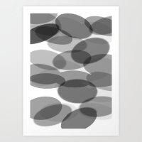 siyah beyaz Art Print