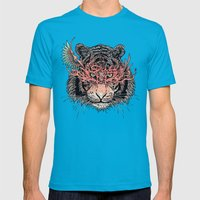 Masked Tiger Mens Fitted Tee Teal SMALL