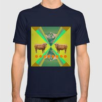 Cow's Reflexion Mens Fitted Tee Navy SMALL