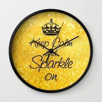 Keep Calm And Sparkle On Wall Clock
