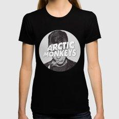 Arctic Monkeys Alex Turn… Womens Fitted Tee Black SMALL