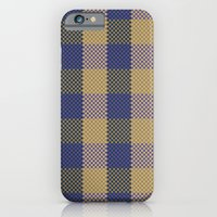 iPhone & iPod Case featuring Pixel Plaid - Spring Thaw by Frostbeard Studio