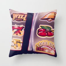 Slot Machine Throw Pillow