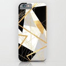 Black and Gold Geometric Slim Case iPhone 6s