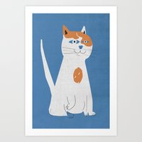 Sam the cat Art Print