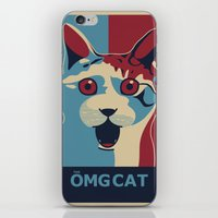 ✩ The OMG Cat Poster iPhone & iPod Skin