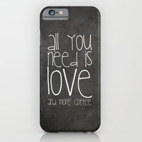 coffee iPhone & iPod Cases featuring COFFEe by Monika Strigel