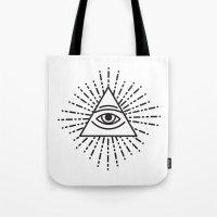 the seeing eye Tote Bag