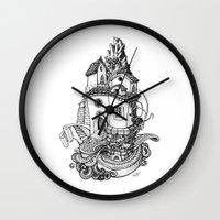 Crystal Mountain Wall Clock