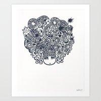 A World On Her Mind Art Print