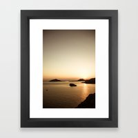 Sounio Framed Art Print