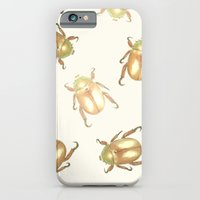 Luxury Golden Scarab Pat… iPhone 6 Slim Case