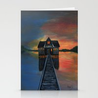 Old boat house  Stationery Cards