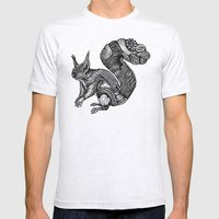 Squirrel Mens Fitted Tee Ash Grey SMALL