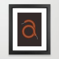 A for Awesome! Framed Art Print