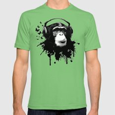 Monkey Business - White Mens Fitted Tee Grass SMALL