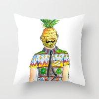 Mr. Pineapple Throw Pillow
