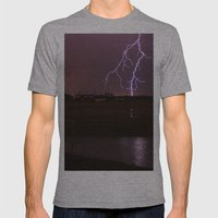 Twin Light Mens Fitted Tee Athletic Grey SMALL