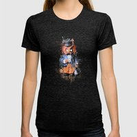 Owl Trip Womens Fitted Tee Tri-Black SMALL