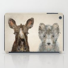 the little wolf and little moose iPad Case