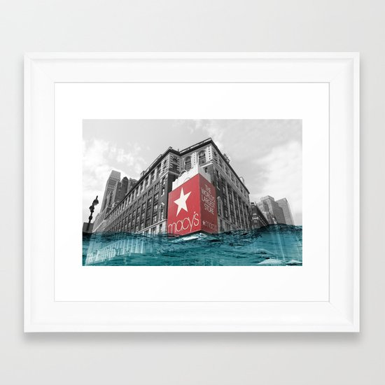 Macy's water line Framed Art Print