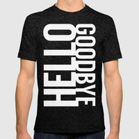 Hello Goodbye Mens Fitted Tee Tri-Black SMALL
