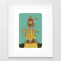 The Long Dress Framed Art Print