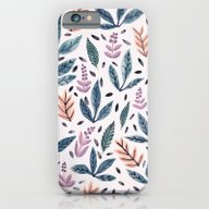 iPhone & iPod Case featuring Painted Leaves by Samantha Dolan