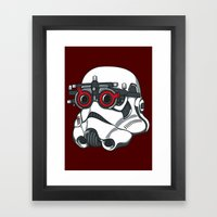 Stormtrooper Eyetest Framed Art Print