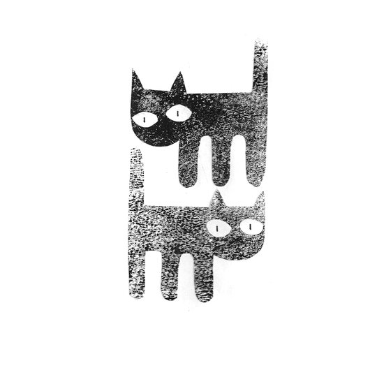 Three legged cats Art Print