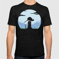 Grey Wolf Sif (Dark Souls) Mens Fitted Tee Tri-Black SMALL