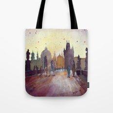 Prague, watercolor explorations in violet  Tote Bag